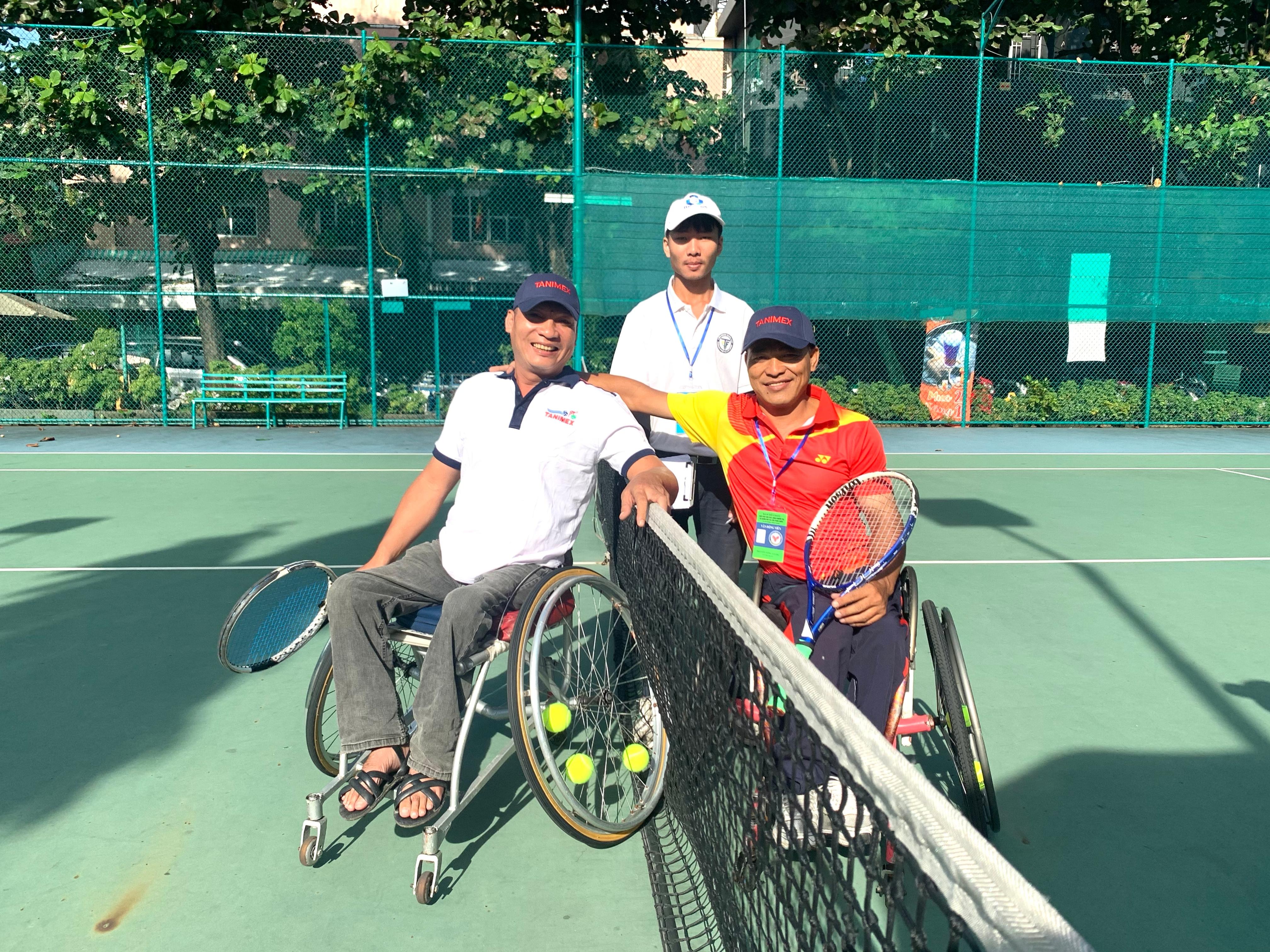 Hình ảnh: Hấp dẫn giải các câu lạc bộ quần vợt xe lăn Toàn quốc - Cúp Tanimex 2020 số 2