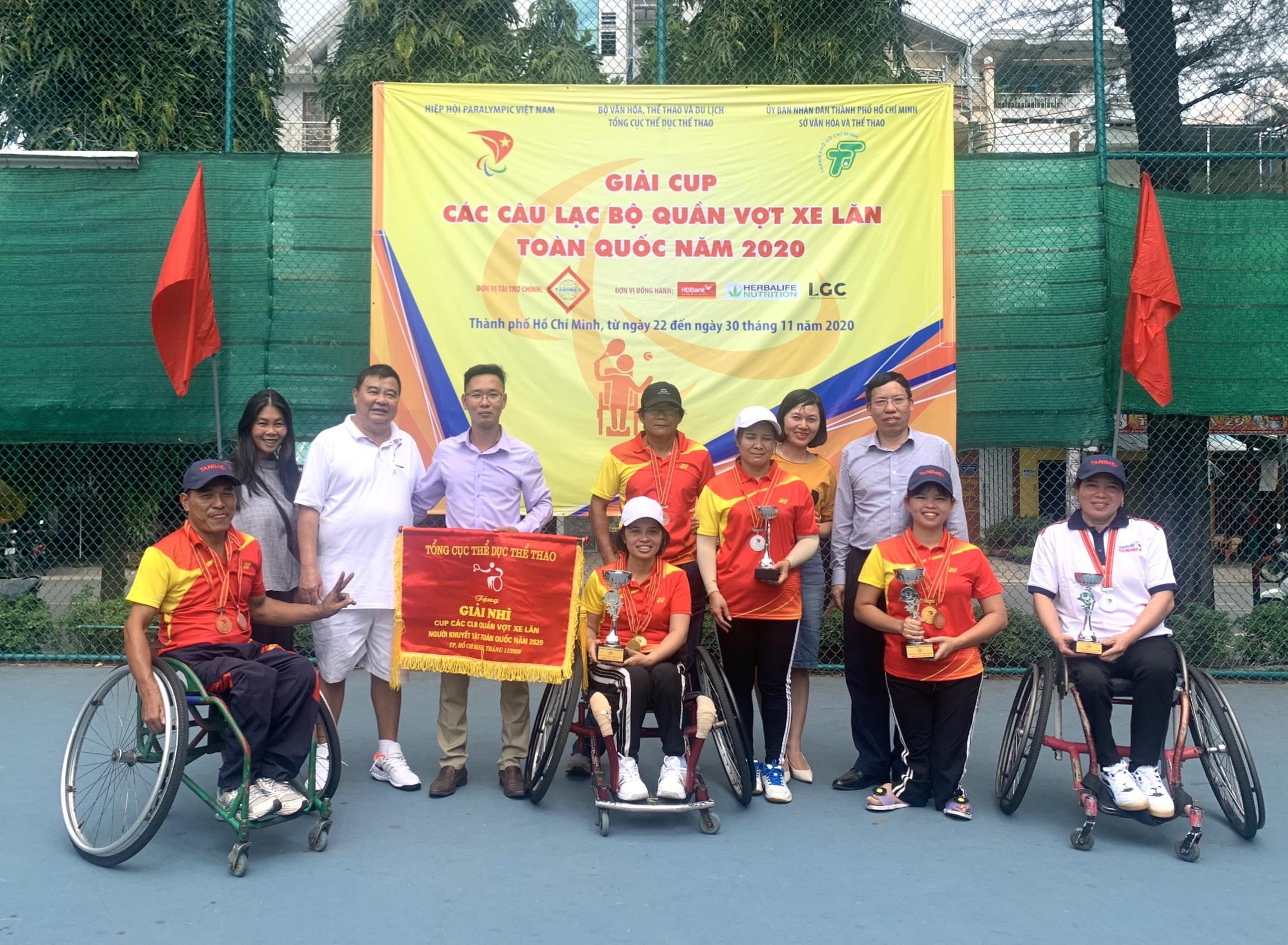 Hình ảnh: Kết thúc giải các CLB quần vợt xe lăn Toàn quốc - Cúp Tanimex 2020: Ngập tràn niềm vui số 2