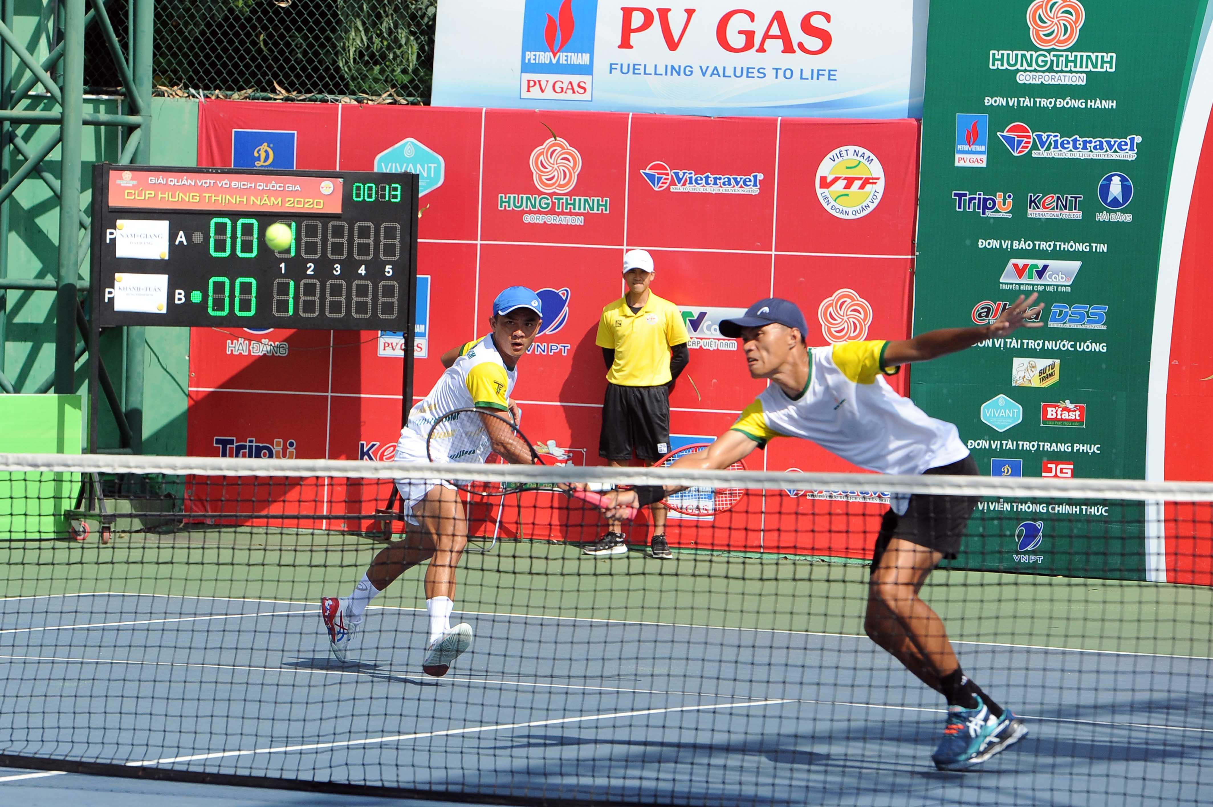 Hình ảnh: Giải quần vợt vô địch quốc gia 2020: Xác định các nhà vô địch nội dung đánh đôi số 1