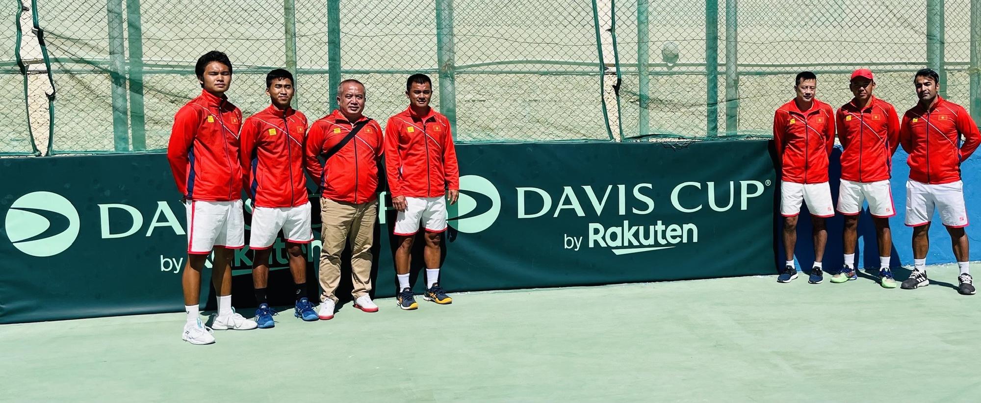 Hình ảnh: Tuyển Davis Cup Việt Nam giành vé play-off Davis Cup nhóm II với thành tích bất bại số 3